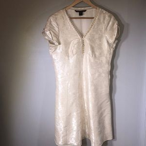 Beautiful Marc Jacobs Cream Silk Brocade Dress 12